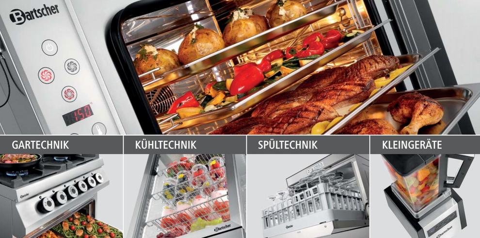Bartscher Grossküchentechnik / Gartechnik / Kühltechnik / Spültechnik / Kleingeräte