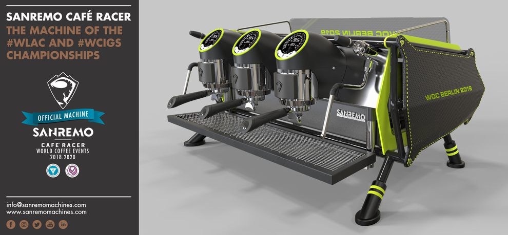 Sanremo  Siebträgermaschine Café Racer, the Machine of the WLAC and WCIGS Championship