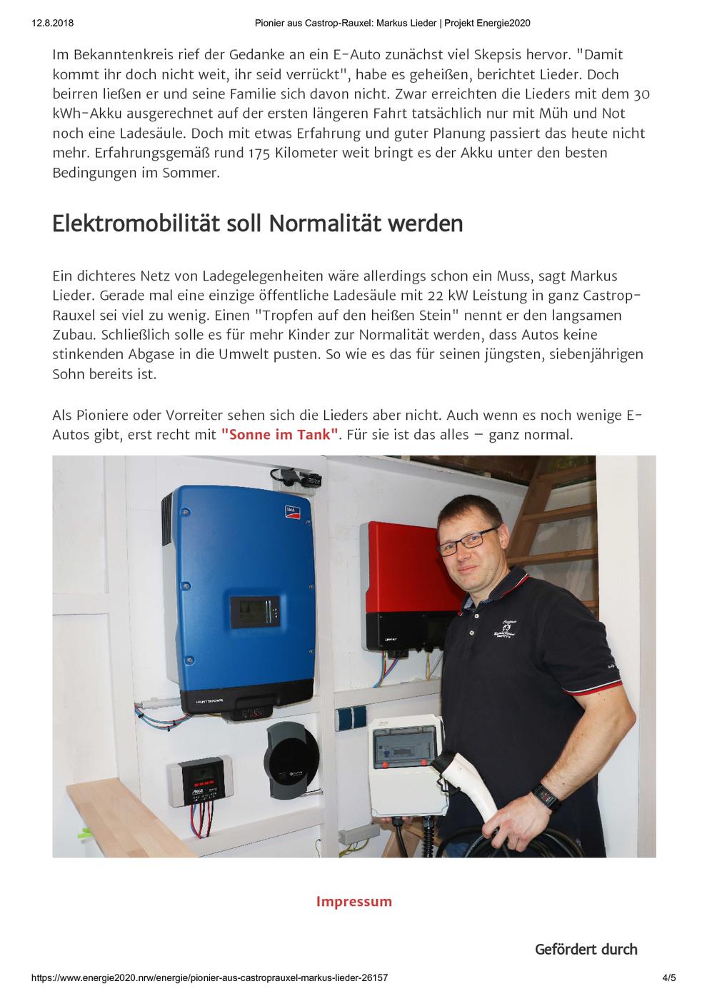 Verbraucherzentrale Nordrhein-Westfalen am 12.08.2018 Pionier aus Castrop-Rauxel: Markus Lieder / Projekt Energie2020, Seite 4/5