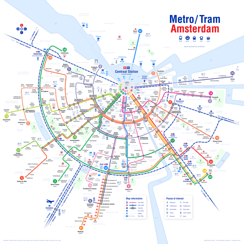 Public Transport - Tram and Metro by Eric Hammink