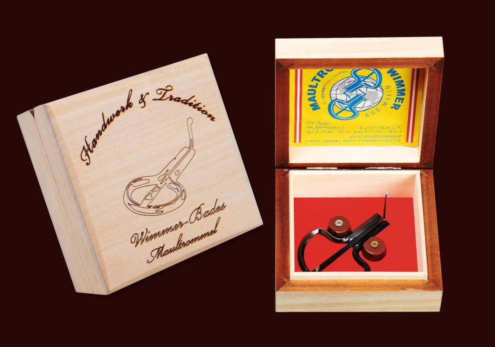 Wimmer-Bades Profi Maultrommel im Holz Etui - Handwerk & Tradition