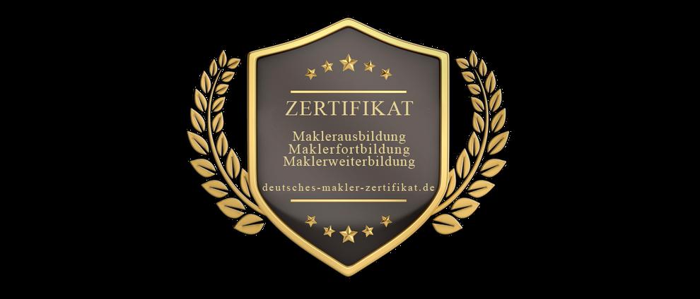 MAKLERZERIFIKAT IMMOBILIENMAKLER ZERTIFIKAT MAKLER ZERTIFIZIERUNG FORTBILDUNGSPFLICHT FORTBILDUNGSNACHWEIS