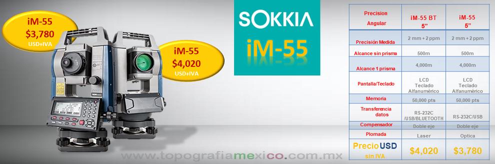 promocion en estacion total sokkia iM-55