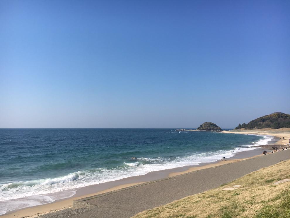 志賀島の国民休暇村付近