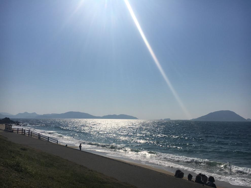 福岡市東区の志賀島から海を望む