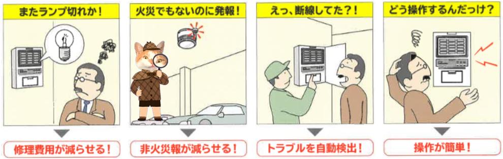 自動火災報知設備 運用 コスト 自動試験機能
