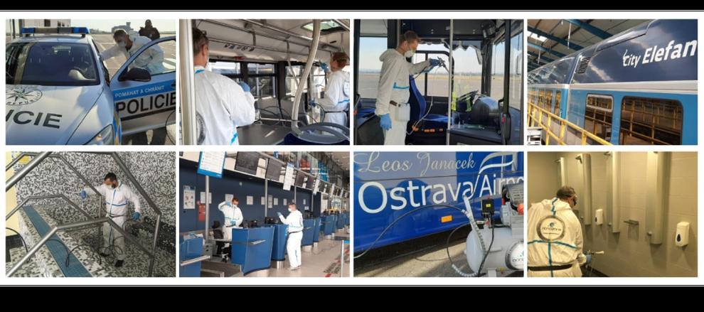 チェコ共和国の警察車両 バス 電車 飛行機などの公共交通機関の消臭清掃