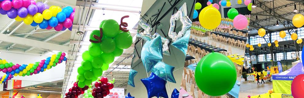 decoration ballons magasin centres commerciaux mariages pau tarbes Bayonne dax auch toulouse 64 65 32 40 31 32