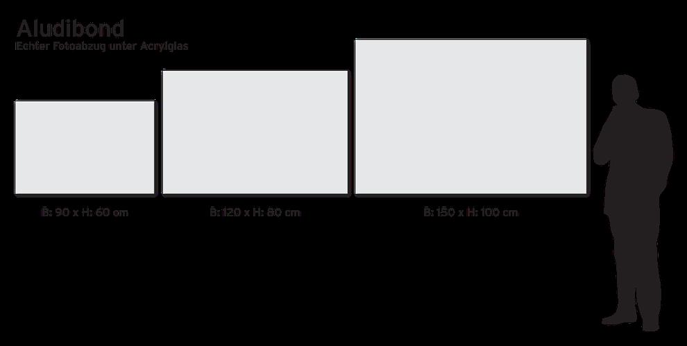 3 Größen als Künstlerempfehlung   Großformate / Sondergrößen auf Anfrage