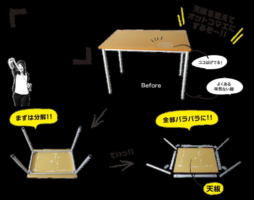 DIYにチャレンジvol.1[テーブルリメイクに挑戦!]