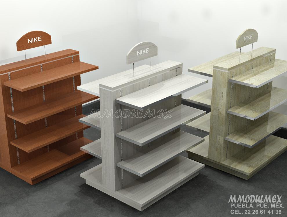 Diseño de Exhibidores para ropa, muebles para ropa, estantes para ropa, repisas para ropa