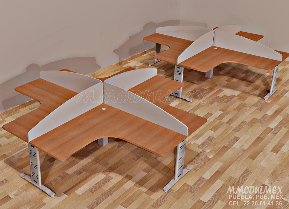 Diseño de escritorios, mesas de juntas, libreros, y todo tipo de muebles de melamina para oficina