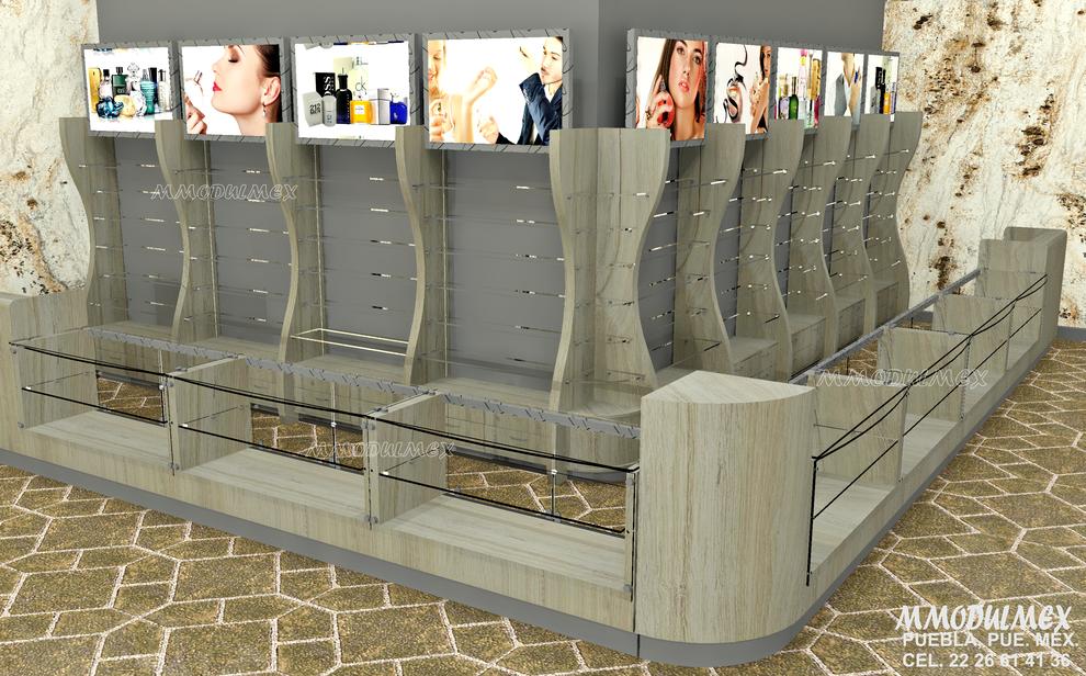 Diseño de Muebles para boutiques, vitrinas para perfumerías, vitrinas para joyerías, vitrinas para joyerías