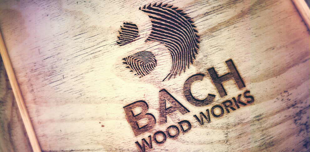 Bach Woodworks Logo Design by Design By Pie, Graphic Designer North Devon