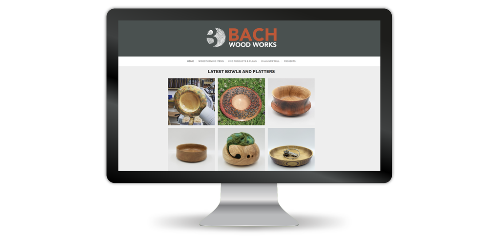 Bach Wood Works final logo in use on the business website