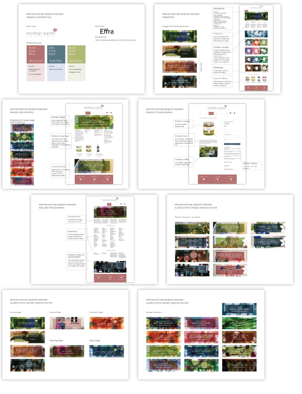 Website re-design directions for web deigner, Design By Pie, Freelance Graphic Designer, North Devon