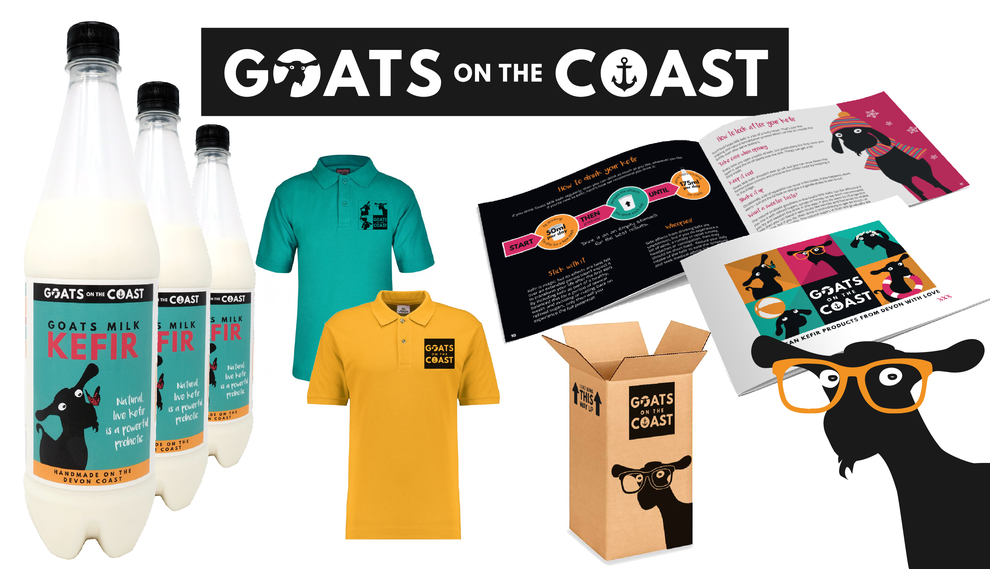 Goats on the Coast Branding Design Project intro, Design By Pie, Freelance graphic designer, Norrth Devon