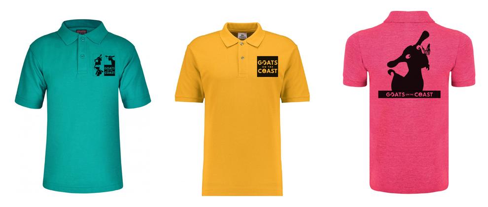 Coats on the coast branded T-shirts, Graphic Designer, Design By Oie, North Devon