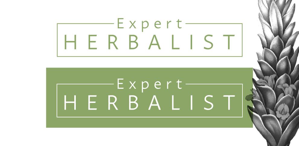 Logo design and brand concept for Expert Herbalist, Design By Pie, Graphic Designer, North Devon