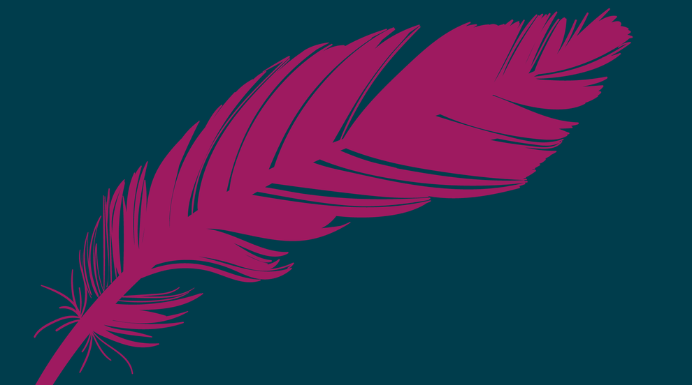 Feather element used in the final logo design for SME Marketeers