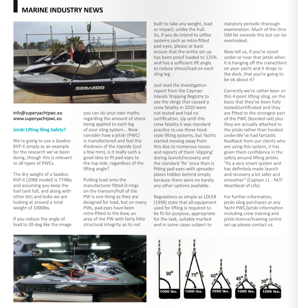 Marine Industry News - The Islander - Lifting sling safety? - PWC