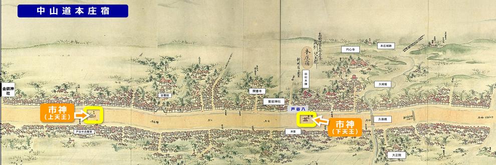 「中山道最大の宿『本庄宿」の再発見」(北部地域振興センター本庄事務所)をもとに作成