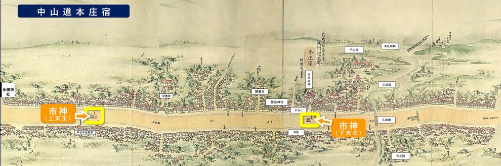 「中山道最大の宿『本庄宿』の再発見」(北部地域振興センター本庄事務所)をもとに作成