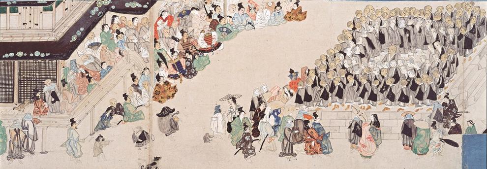 重要文化財 《遊行上人縁起絵》(巻7・部分) 鎌倉時代、兵庫・真光寺蔵