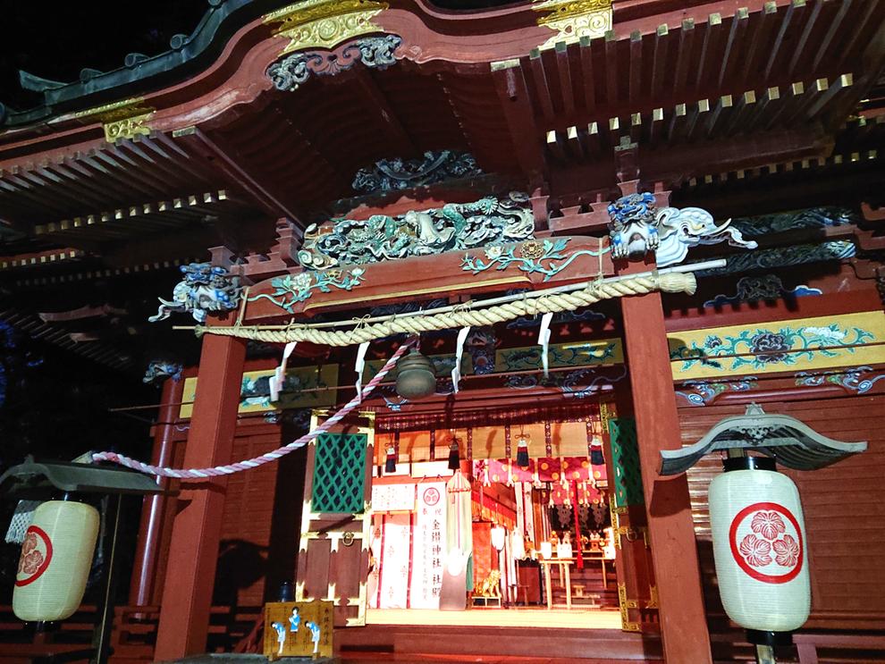 金鑚神社(本庄市千代田3-2-3)の拝殿