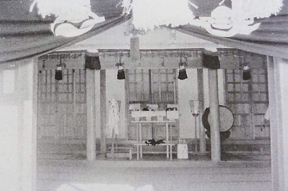 城山稲荷神社(3神合祀殿)の内部 ※『本庄の歴史と城山稲荷神社』本庄市本町(P28)より