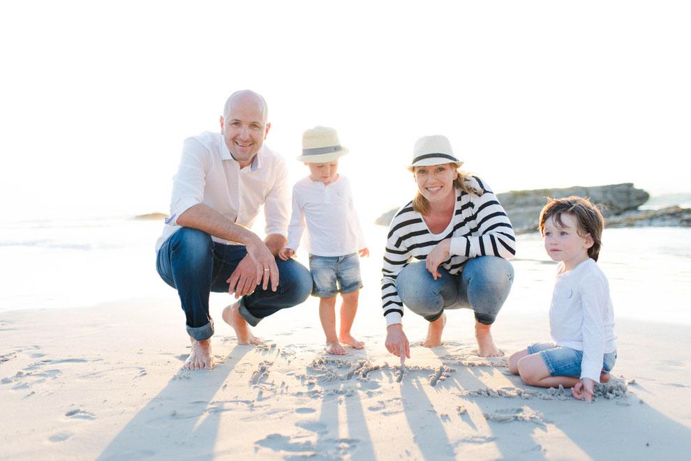 Karoline und Paul Gann samt Familie beim Fotoshooting in Kapstadt