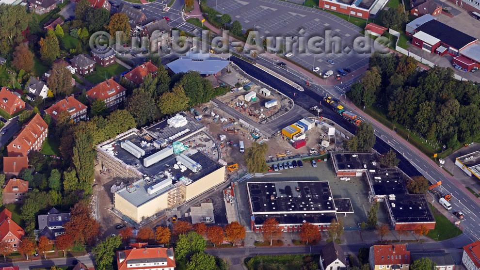 Der Kino-Neubau in Aurich an der Emder Str. - Richtfest