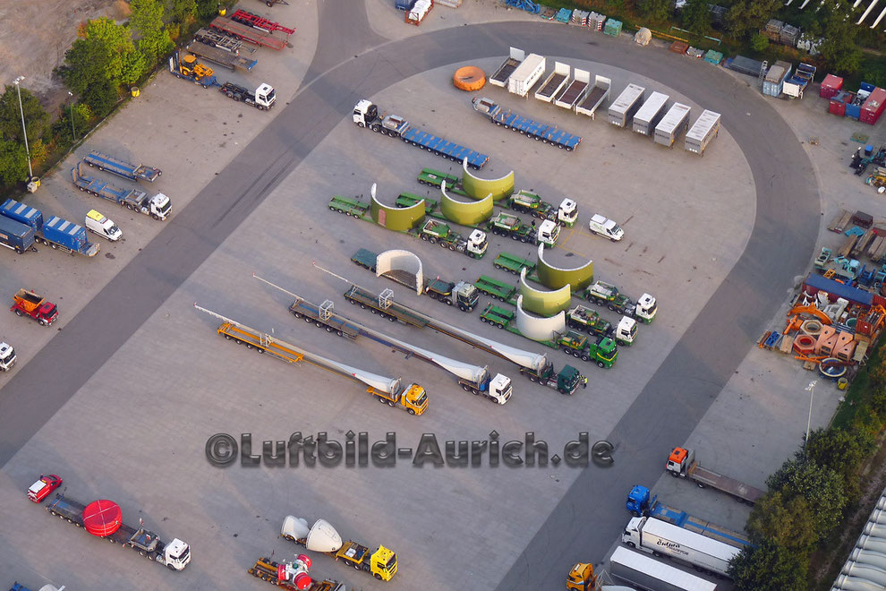 Enercon Sandhorst Verladung Windmühlen