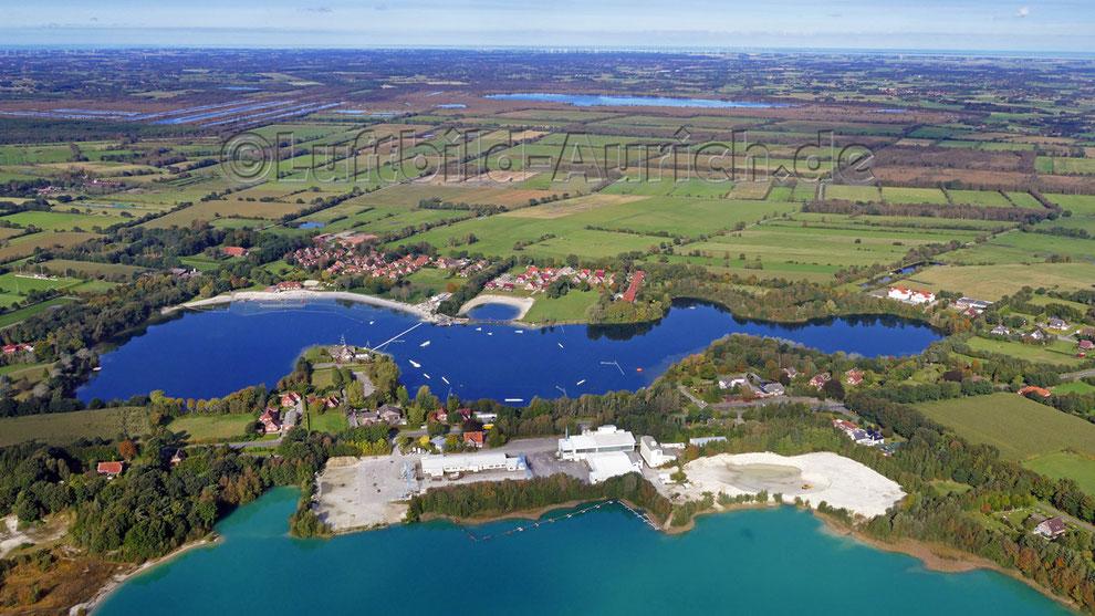 Aurich - Tannenhausen Kieskuhlen Badesee Wakeboard-Anlage und Ewiges Meer
