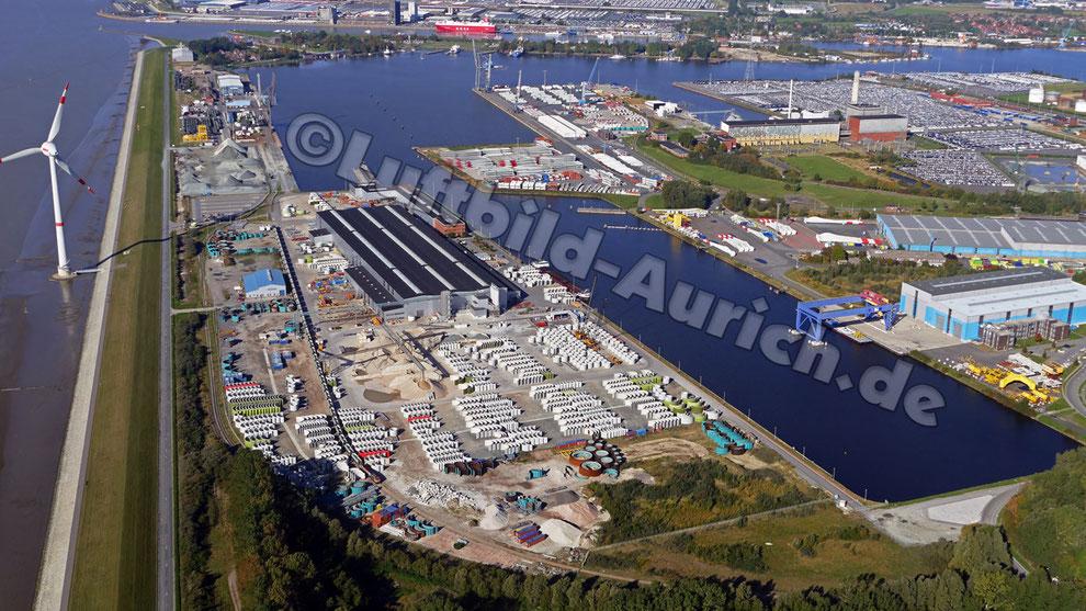 Der Emder Hafen - WEC-Enercon Turmbau