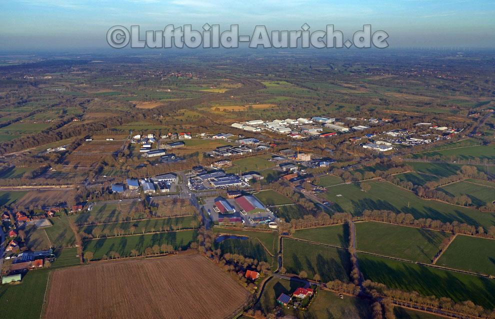 Das Gewerbegebiet in Aurich - Schirum
