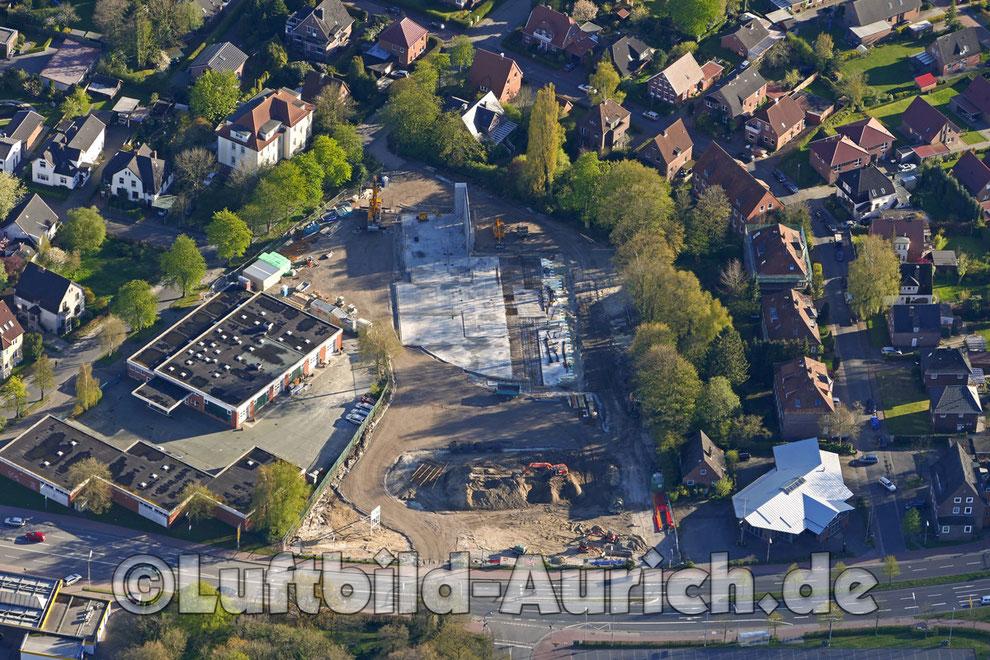 Der Kino Neubau in Aurich an der Emder Strasse schreitet voran...