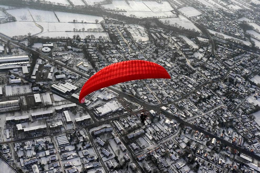 Winterflug über Aurich