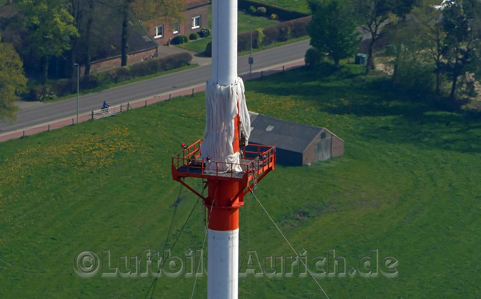 Auricher Fernsehturm - wird hier etwas an- oder abgebaut...?
