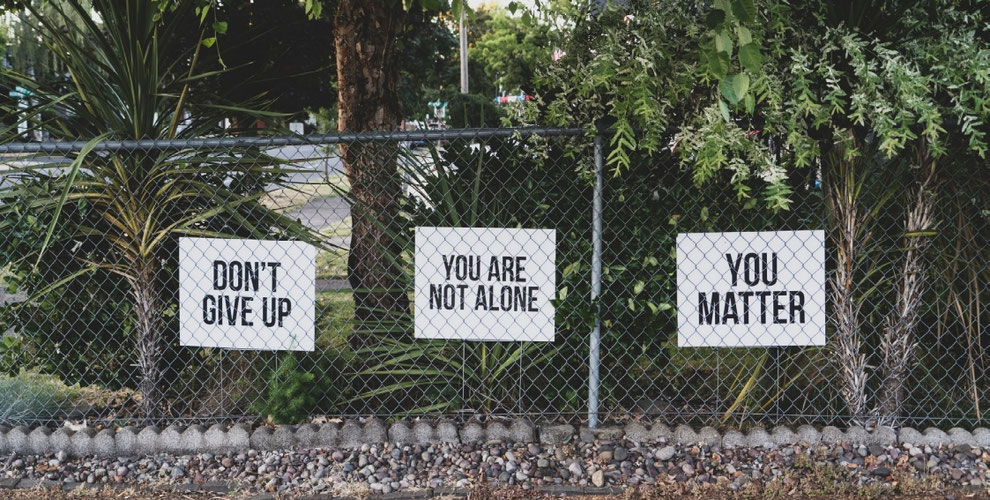 Don't give up_You are not alone_You matter_Photo  by Dan Meyers on Unsplash