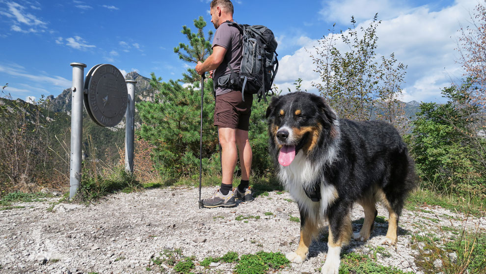 Hundewanderung Italien Idrosee Cima Crench Cocca d'Idro Wandern mit Hund