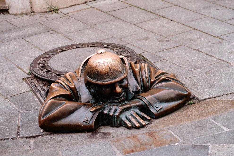 """Bronzestatue """"Man at Work"""""""
