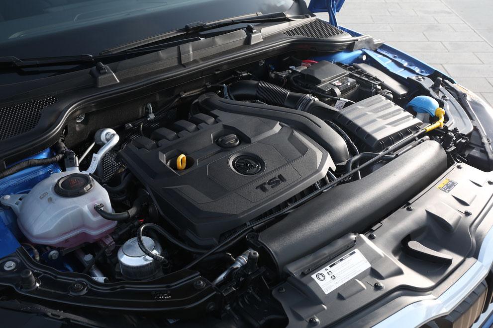 Beim Škoda Scala haben alle Motoren Direkteinspritzung und Turboaufladung. Sie sind mit Start-Stopp-System und Bremsenergierückgewinnung ausgestattet.