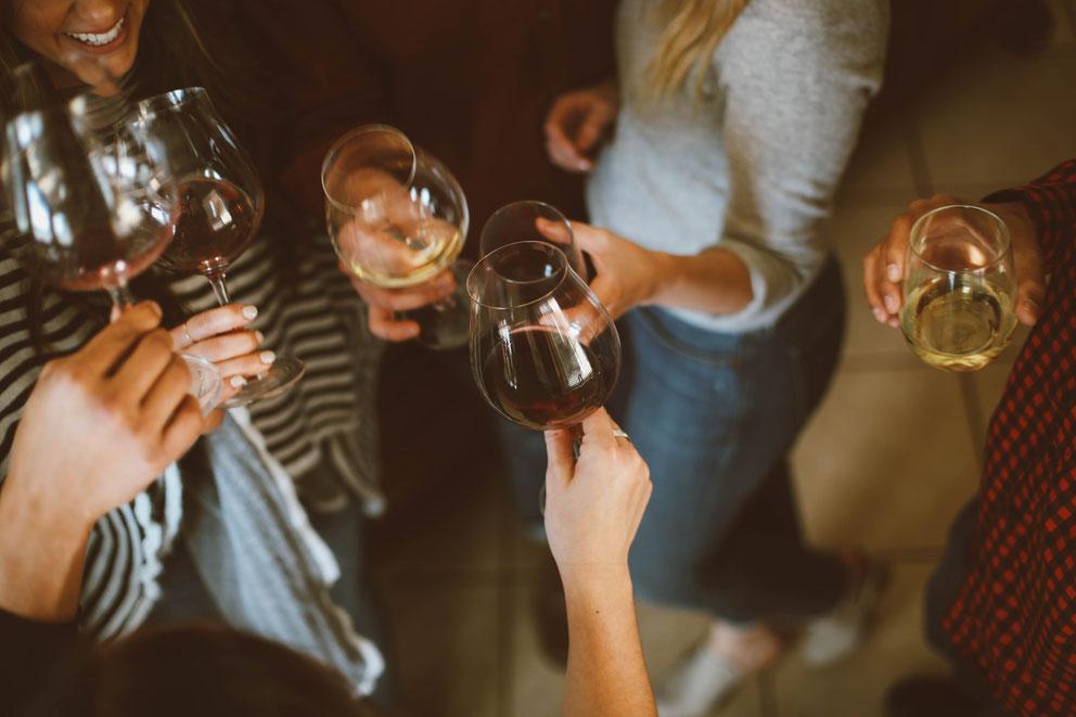 nachhaltig feiern mit Wein
