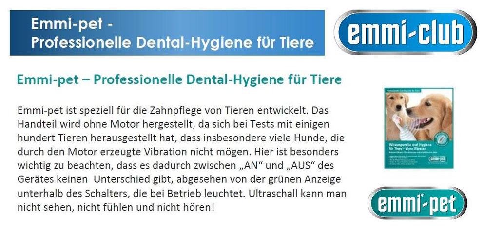Emmi Pet die Professionelle Zahnhygiene mit Ultraschall für Tiere von Emmi Ultrasonic.