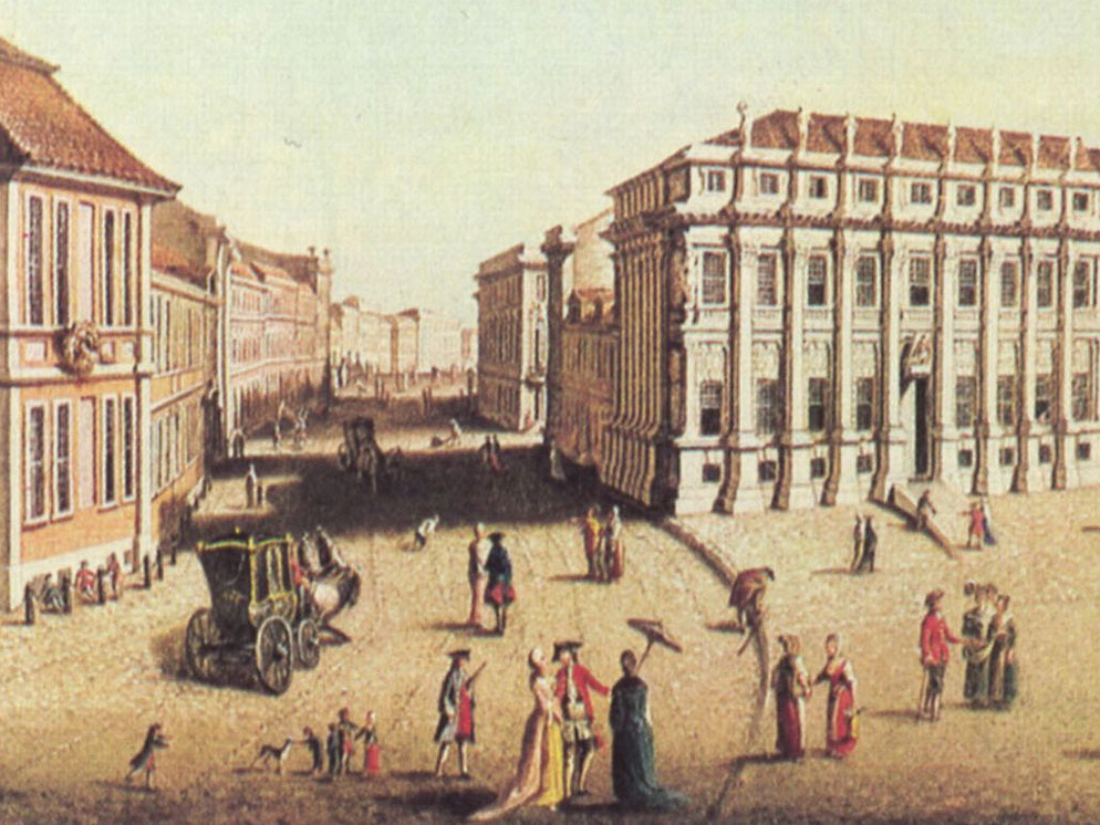 Blick in die Hohewegstraße in Potsdam