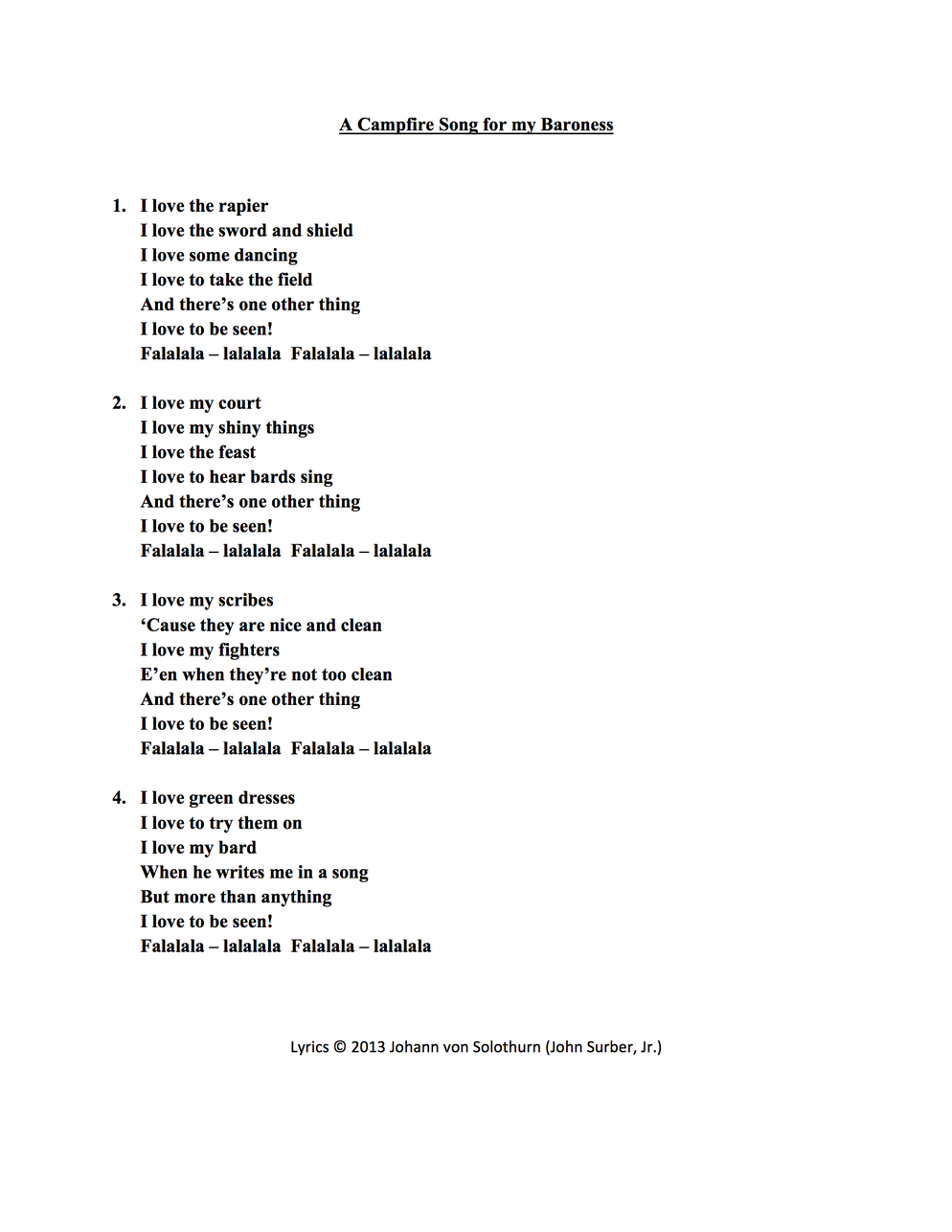 Campfire song guitar chords image collections guitar chords examples a campfire song for my baroness johann von solothurn lyric sheet for a campfire song for hexwebz Choice Image