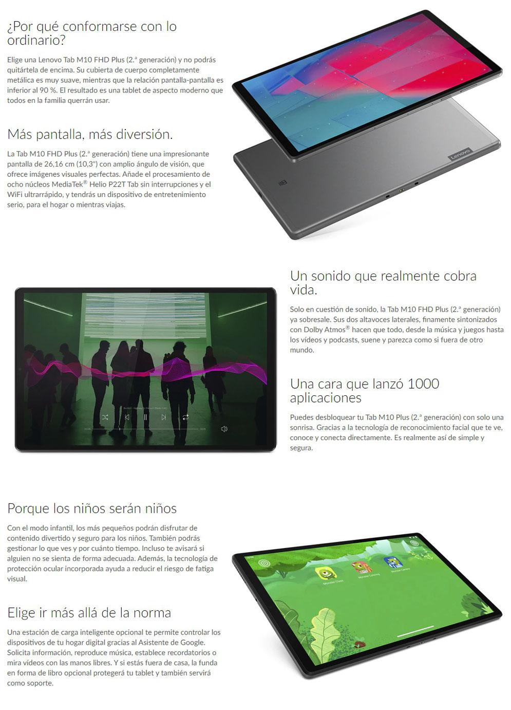"Tablet Lenovo M10 FHD Plus 10,3"" 64GB en Tenerife"