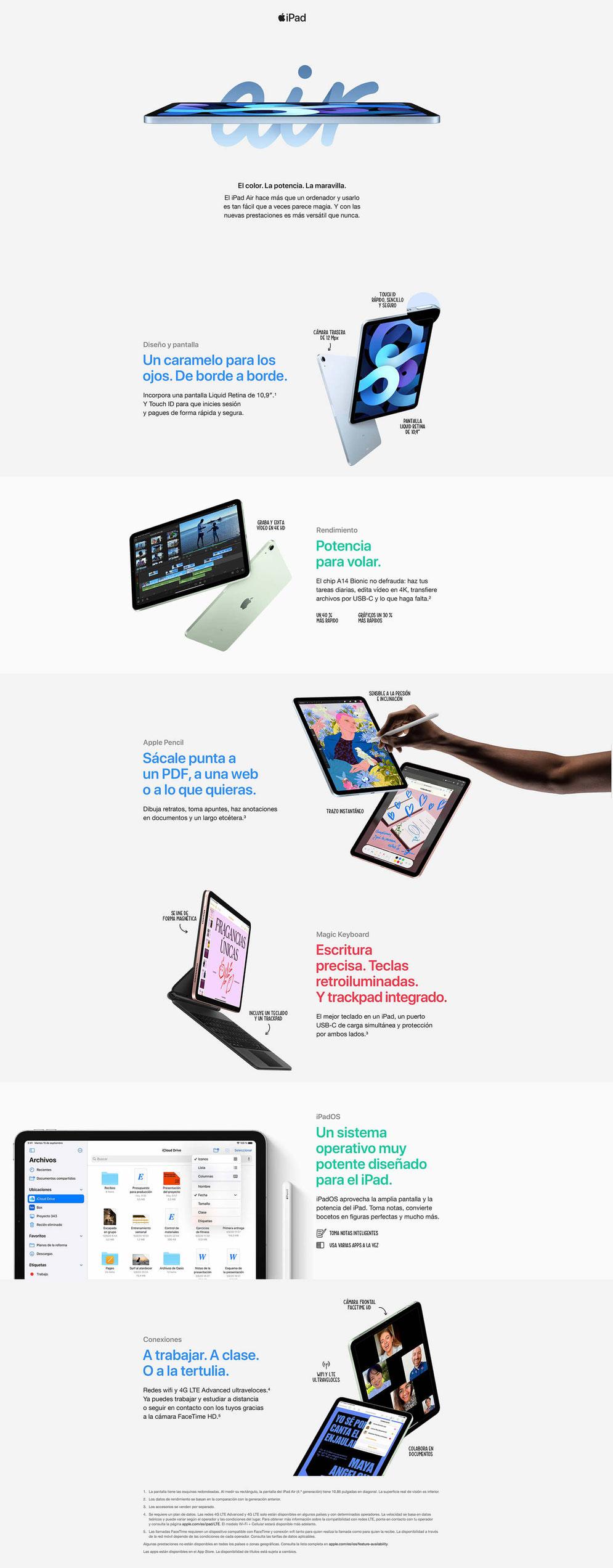 iPad Air 2020 de 256GB WiFi en Tenerife