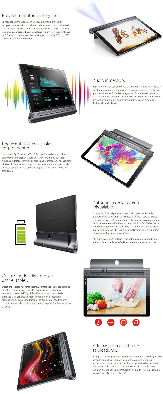 Tablet Lenovo Yoga Tab 3 Pro con proyector integrado - Aasraa Tenerife